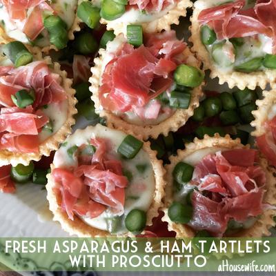 Fresh AsparagusHamTartletsProsciutto