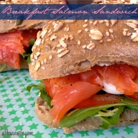Breakfast Salmon Sandwich
